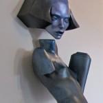Cajsa von Zeipel, Faye Valentine, 2015, styrofoam, aqua-resin, fiberglass, plaster, 38 x 22 x 19 in.